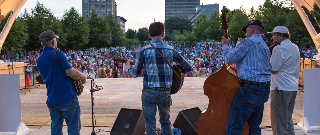 Shindig on the Green, free outdoor concert in downtown Asheville