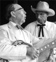 Lunsford on banjo folk festival