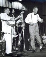 Bascom Lamar Lunsford and folk dancer
