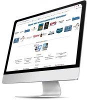 Business sponsorship website display